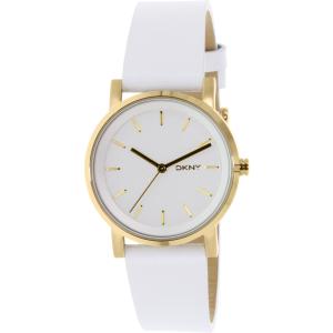 Dkny Women's Soho NY2340 White Leather Quartz Watch