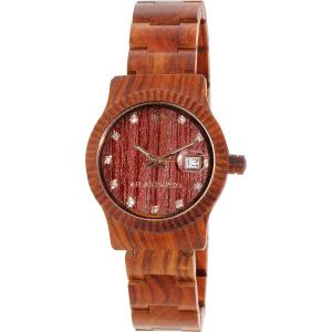 Ab Aeterno Women's Sky AB.AURORA Red Wood Swiss Quartz Watch