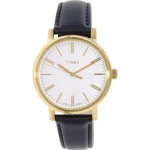 Timex Women's Originals TW2P63400 Gold Leather Analog Quartz Watch