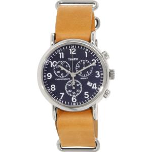Timex Men's Weekender TW2P62300 Navy Leather Analog Quartz Watch