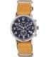 Timex Men's Weekender TW2P62300 Navy Leather Analog Quartz Watch - Main Image Swatch