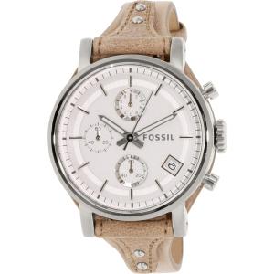 Fossil Women's Boyfriend ES3625 Silver Leather Quartz Watch