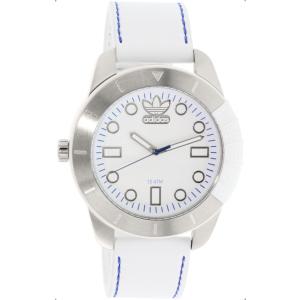 Adidas Men's Originals ADH3036 White Leather Quartz Watch