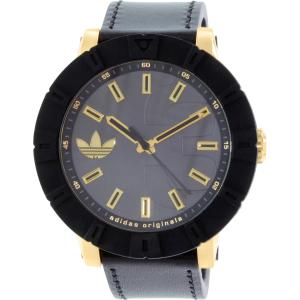 Adidas Men's Amsterdam ADH3041 Black Leather Swiss Quartz Watch
