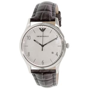 Emporio Armani Men's Beta AR1880 Grey Leather Quartz Watch