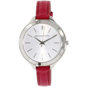 Michael Kors Women's Slim Runway MK2272 Pink Leather Quartz Watch