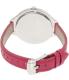 Michael Kors Women's Slim Runway MK2272 Pink Leather Quartz Watch - Back Image Swatch