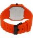 Nixon Men's Rubber Player A139211 Orange Rubber Quartz Watch - Back Image Swatch