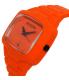Nixon Men's Rubber Player A139211 Orange Rubber Quartz Watch - Side Image Swatch