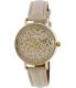 Geneva Platinum Women's 4794.BONE.GOLD Beige Leather Quartz Watch - Main Image Swatch