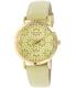 Geneva Platinum Women's 4934.OLIVE.GOLD Green Leather Quartz Watch - Main Image Swatch