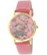 Geneva Platinum Women's 9819.CORAL.GOLD Pink Leather Quartz Watch - Main Image Swatch