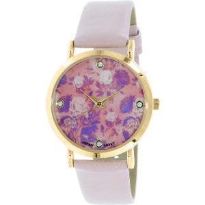 Geneva Platinum Women's 9819.LIGHTPINK.GOLD Light Pink Leather Quartz Watch