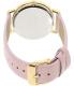 Geneva Platinum Women's 9819.LIGHTPINK.GOLD Light Pink Leather Quartz Watch - Back Image Swatch