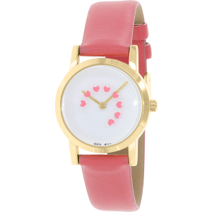 Geneva Platinum Women's 9888.CORAL.GOLD Pink Leather Quartz Watch