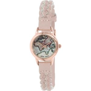 Geneva Platinum Women's 4983.LIGHTPINK.GOLD Pink Leather Quartz Watch
