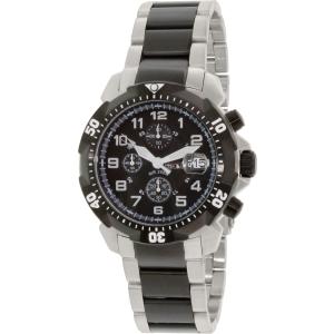 Precimax Men's Defender Pro PX13312 Silver/Black Stainless-Steel Quartz Watch