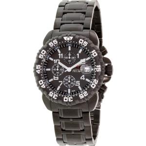 Precimax Men's Ion Pro PX14025 Black Stainless-Steel Quartz Watch