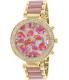 Geneva Platinum Women's 9484.GOLD.MAUVE.FLORAL Gold Metal Quartz Watch - Main Image Swatch