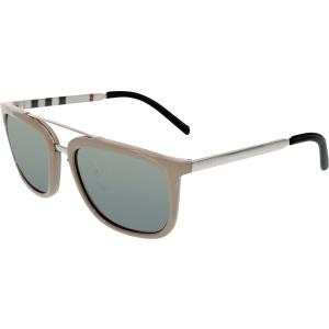 Burberry Women's Mirrored  BE4167Q-345088-57 Putty Square Sunglasses