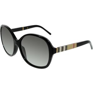 Burberry Women's Gradient  BE4178-300111-58 Black Round Sunglasses