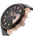 Diesel Men's Stronghold DZ4347 Black Leather Quartz Watch - Side Image Swatch