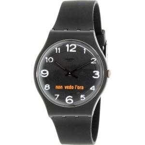 Swatch Men's Originals SUOB107 Black Silicone Swiss Quartz Watch