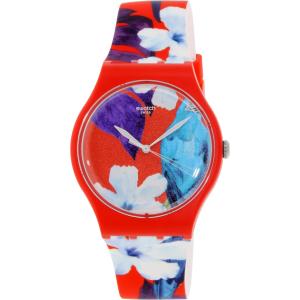 Swatch Women's Originals SUOR105 Red Silicone Swiss Quartz Watch