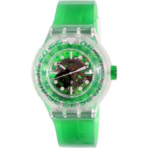 Swatch Women's Originals SUUK104 Green Plastic Swiss Quartz Watch