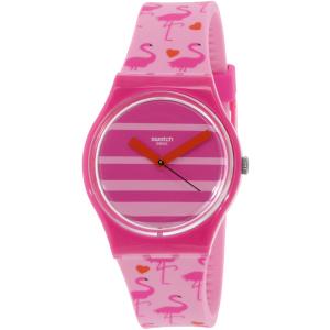 Swatch Women's Originals GP144 Pink Silicone Swiss Quartz Watch