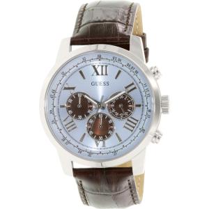 Guess Men's U0380G6 Brown Leather Quartz Watch