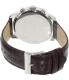 Guess Men's U0380G6 Brown Leather Quartz Watch - Back Image Swatch