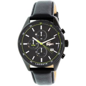 Lacoste Men's Dublin 2010785 Black Leather Quartz Watch
