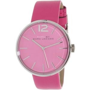 Marc by Marc Jacobs Women's Peggy MBM1363 Pink Leather Quartz Watch