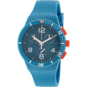 Swatch Men's Originals SUSN406 Aqua Silicone Swiss Quartz Watch
