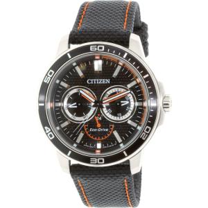 Citizen Men's Eco-Drive BU2040-05E Black Nylon Quartz Watch