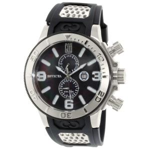 Invicta Men's Jason Taylor 13687 Black Rubber Swiss Quartz Watch
