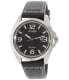 Citizen Men's AW1430-19E Black Leather Eco-Drive Watch - Main Image Swatch