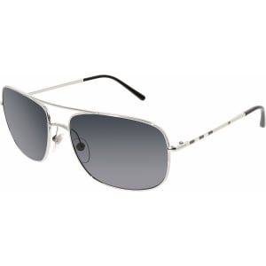 Burberry Men's  BE3077-100587-60 Silver Square Sunglasses