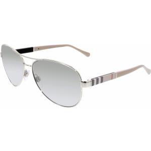 Burberry Women's Gradient  BE3080-10056V-59 Silver Aviator Sunglasses