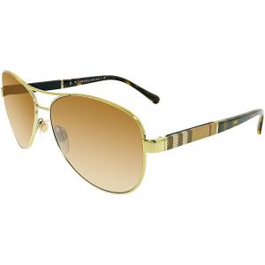 Burberry Women's Gradient  BE3080-114513-59 Brown Aviator Sunglasses