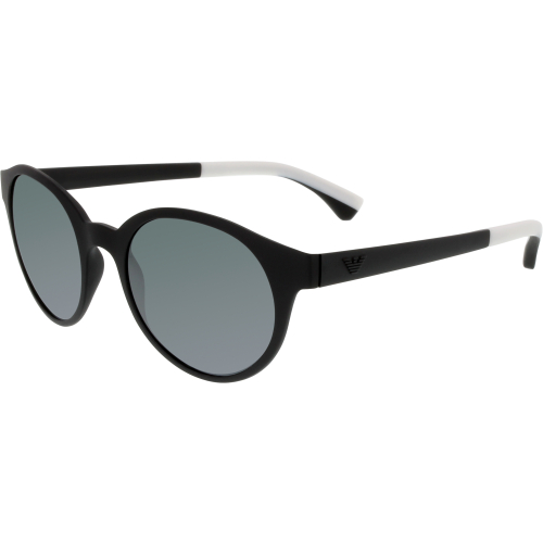 Emporio Armani Men's EA4045-53236G-51 Black Round Sunglasses