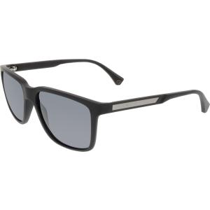 Emporio Armani Men's  EA4047-506381-56 Black Square Sunglasses