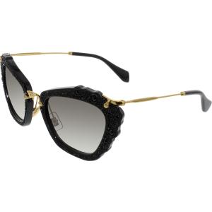 Miu Miu Women's Gradient  MU04QS-1AB0A7-55 Black Butterfly Sunglasses