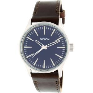 Nixon Men's Sentry A3771524 Brown Leather Quartz Watch