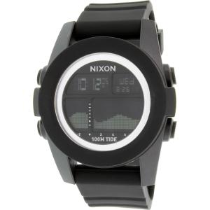 Nixon Men's Unit Tide A282000 Black Silicone Quartz Watch