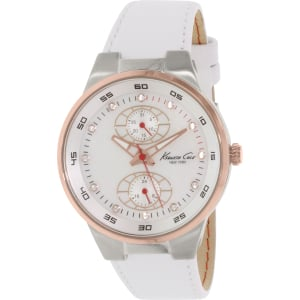 Kenneth Cole Women's New York KC2862 White Leather Analog Quartz Watch