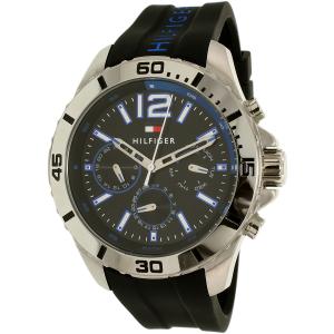 Tommy Hilfiger Men's 1791143 Black Silicone Quartz Watch