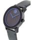 Movado Men's Bold 3600317 Navy Leather Swiss Quartz Watch - Side Image Swatch