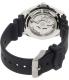 Seiko Men's SNZB23J2 Black Rubber Automatic Watch - Back Image Swatch